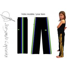 Black afro Brazil capoeira pants for children - Jogando Capoeira