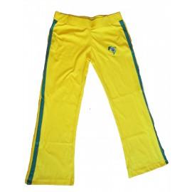 Pantalon de capoeira jaune Afro Mestres Brasil