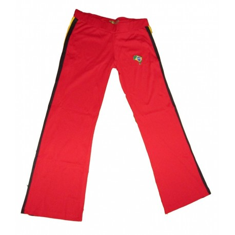 Red capoeira pants afro for men - Mestres Brasil