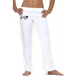 Pantalon  de capoeira femme blanc Iniciando Mestres Brasil