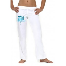 White capoeira pants arco for women - Mestres Brasil