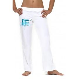 Pantalon  de capoeira femme blanc tocando , Mestres