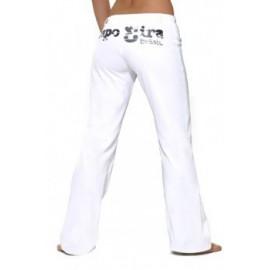 Pantalon  de capoeira femme blanc Capo3ira Mestres Brasil