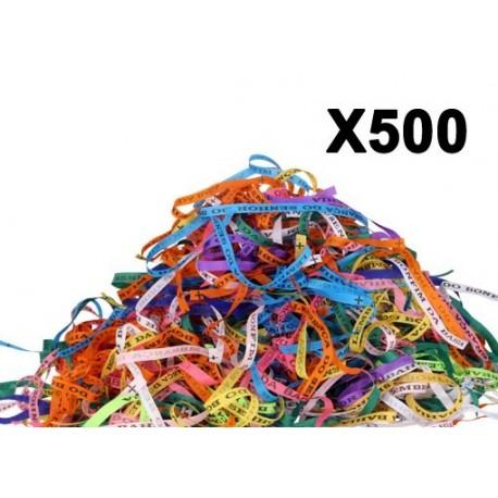 Bracelet porte bonheur fita Senhor da Bonfim par paquets de 500