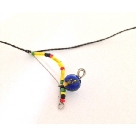 Coloured berimbau necklace