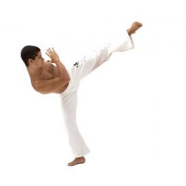 Pantalon de capoeira blanc Tocando pour homme - Mestres Brasil