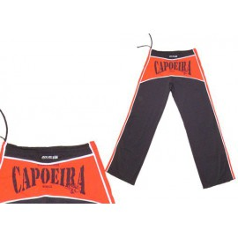 Black and red capoeira pants DIBUM by Marimbondo Sinha