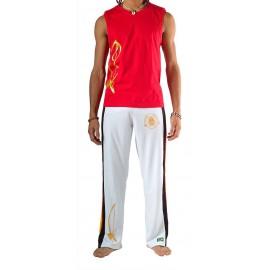 Pantalon de capoeira Blanc Olodum Besouro Manganga