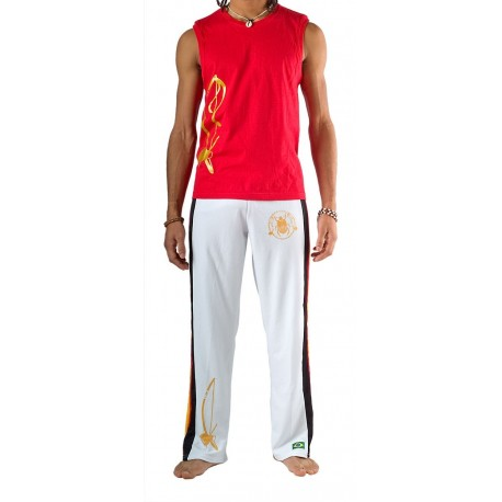 White capoeira pants Olodum for men Besouro Manganga