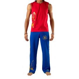 Pantalon de capoeira Bleu Olodum Besouro Manganga