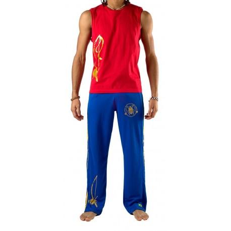 Blue capoeira pants Olodum for men Besouro Manganga