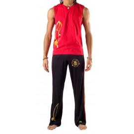 Pantalon de capoeira Noir Olodum Besouro Manganga