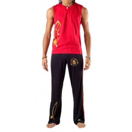 Black capoeira pants Olodum Besouro Manganga