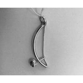 """Berimbau silver necklace """"cabaça motifs"""""""