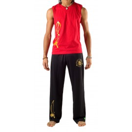 Black capoeira pants for men Besouro Manganga