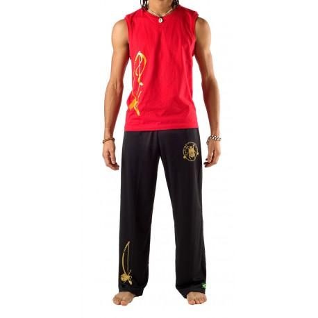 Pantalon de capoeira noir Besouro Manganga