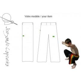 Pantalon de capoeira enfant, Abada blanc, Jogando Capoeira