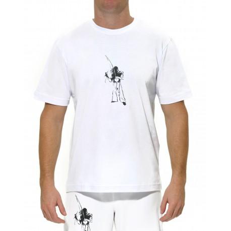 Tshirt enfant Eu toco berimbau blanc ENF01