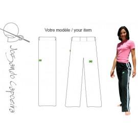 Pantalon  de capoeira femme blanc , Abada officiel Jogando Capoeira