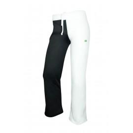 Pantalon de capoeira blanc et noir PERNAS