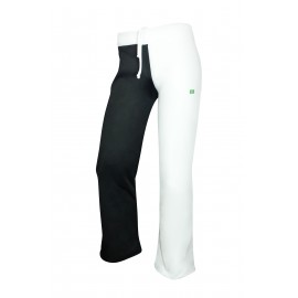 White and Black capoeira pants for men 2 Pernas - Mestres Brasil