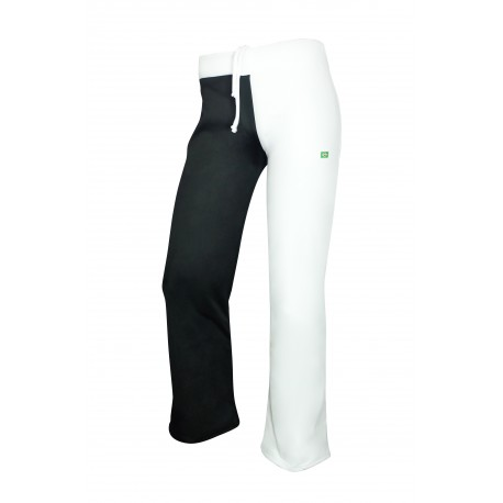 White and Black capoeira pants for men 2 Pernas - Mestres Brasil