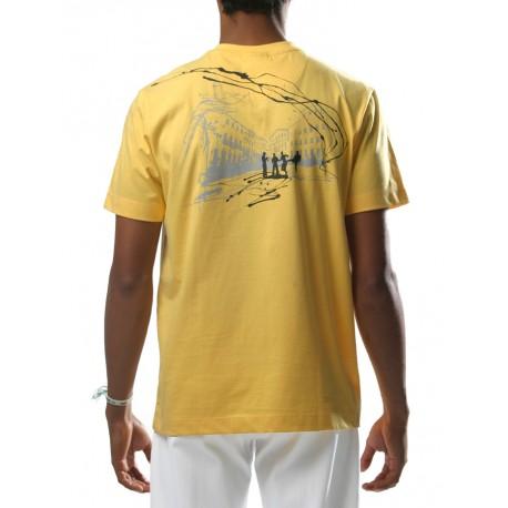 Tee-shirt de capoeira Jaune Pelourinho de dos