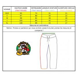 Pantalon de capoeira noir Afro Marimbondo Sinha