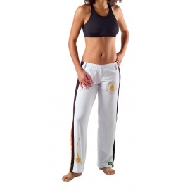 White capoeira pants Olodum for women Besouro Manganga