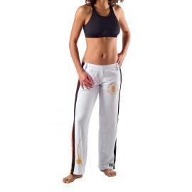 Pantalón capoeira blanco para mujer - Besouro Manganga