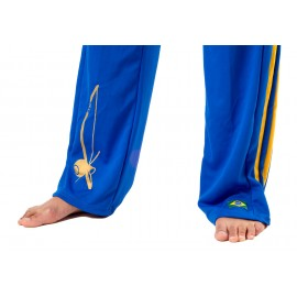 Pantalon de capoeira bleu Femme Besouro Manganga