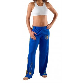 Blue capoeira pants for women Besouro Manganga