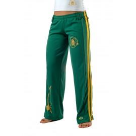 Pantalon de capoeira vert Femme Besouro Manganga