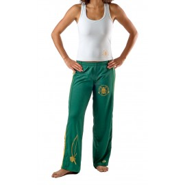 Green capoeira pants for women Besouro Manganga