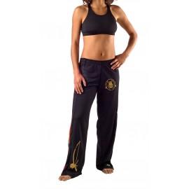 Pantaloni neri da capoeira da Donna - Besouro Manganga