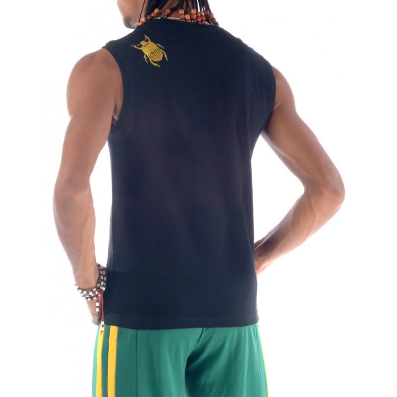 tshirt de capoeira noir homme sans manches besouro manganga. Black Bedroom Furniture Sets. Home Design Ideas