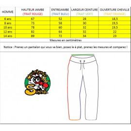 Pantalon de capoeira blanc pour enfant Marimbondo Sinha
