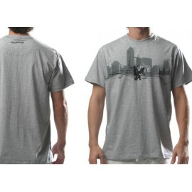 Grey capoeira tee shirt Sampa for men - Mestres Brasil