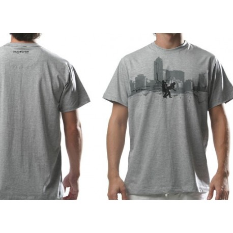 "Tshirt ""Mestres""homme-sampa gris"