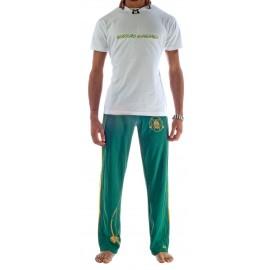 Tee Shirt Blanc Kelly de capoeira Besouro Manganga