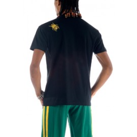 Tee Shirt Noir Or de capoeira Besouro Manganga