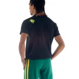 Tee Shirt Noir Vert Citron de capoeira Besouro Manganga