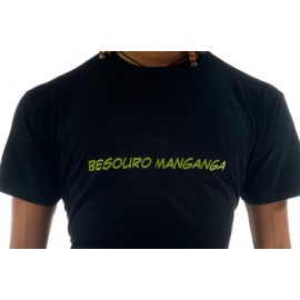 Tee Shirt Noir Lime de capoeira Besouro Manganga