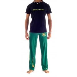 Tee Shirt Noir Kelly de capoeira Besouro Manganga