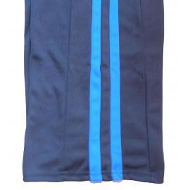 """Pantalon de Capoeira - Abada Jogando Capoeira """"duas linhas""""noir et bleu"""
