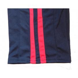 """Pantalon de capoeira - Abada Jogando Capoeira"""" duas linhas"""" noir&rouge"""