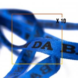 Bracelets brésiliens porte bonheur fita Senhor da Bonfim, paquets de 10 fitas bleu