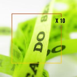10 Bracelets brésiliens vert fluo porte bonheur fita Senhor da Bonfim, paquets de 10 fitas orange