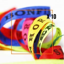 Assortiment de 10 Bracelets brésiliens porte bonheur fita Senhor da Bonfim, paquets de 10 fitas