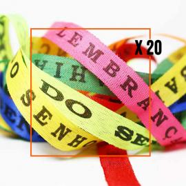 Bracelet porte bonheur fita Senhor da Bonfim par paquets de 20